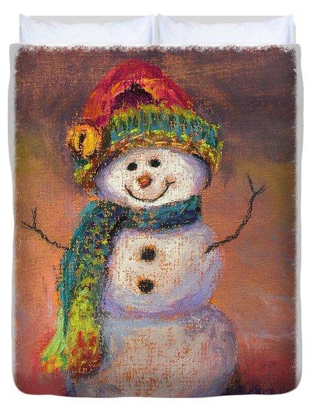 Happy Snowman Duvet Cover