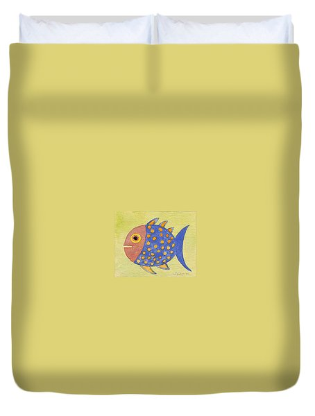 Happy Speckled Fish Duvet Cover