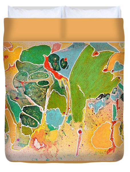 Happy Spirits Duvet Cover by Marianne Davidow