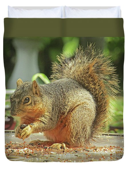 Happy Squirrel Duvet Cover