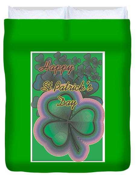 Happy St. Patrick's Day Duvet Cover