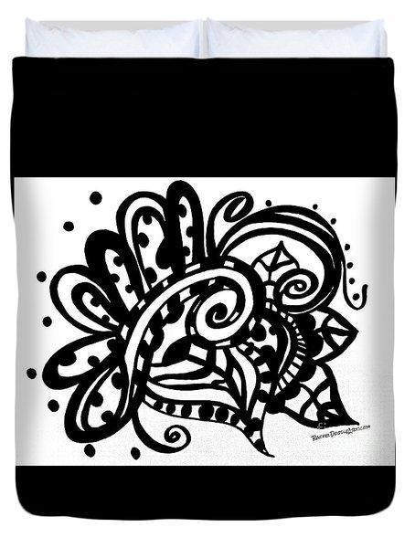 Happy Swirl Doodle Duvet Cover