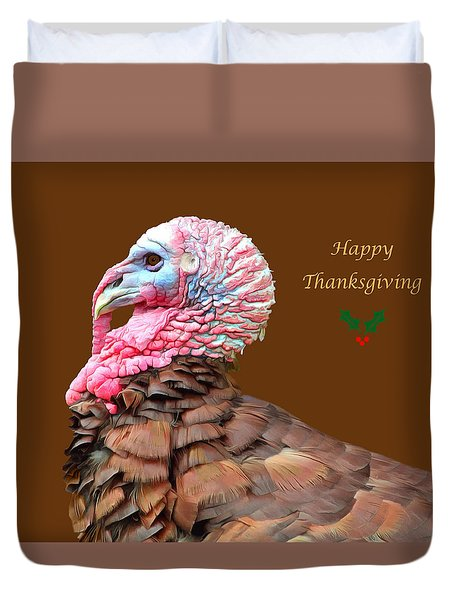 Happy Thanksgiving Duvet Cover by Marion Johnson