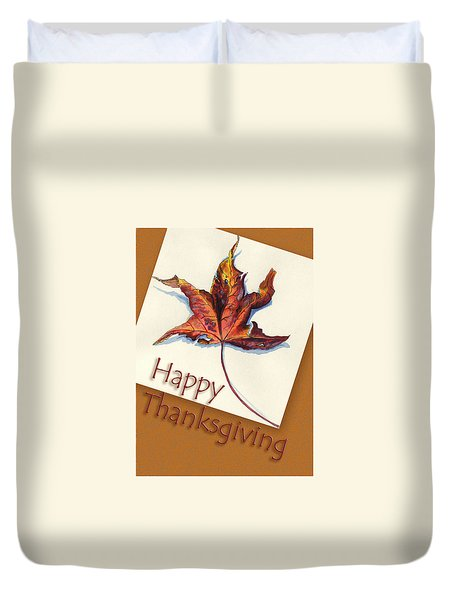 Happy Thansgiving Duvet Cover