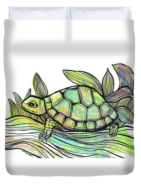 Happy Trails Duvet Cover