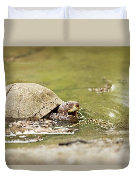 Happy Turtle Duvet Cover