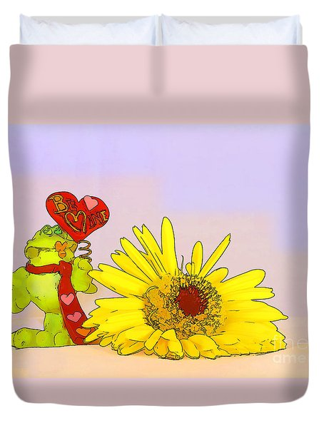 Duvet Cover featuring the photograph Happy Valentine's Day by Teresa Zieba