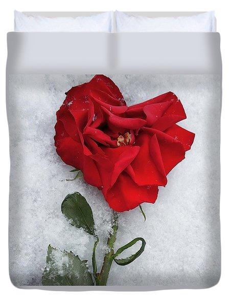 Snow Valentine Duvet Cover