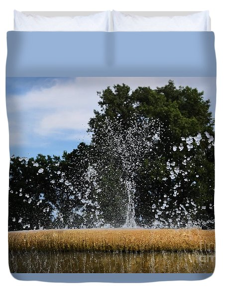 Duvet Cover featuring the photograph Happy Water by Mark McReynolds