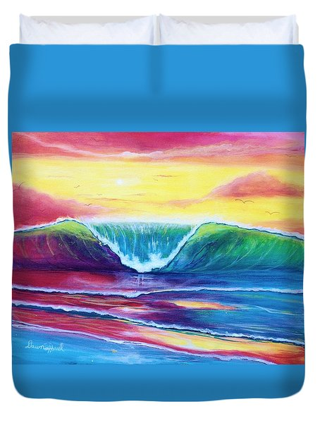 Happy Wave Duvet Cover