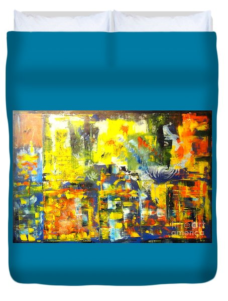 Happyness And Freedom Duvet Cover