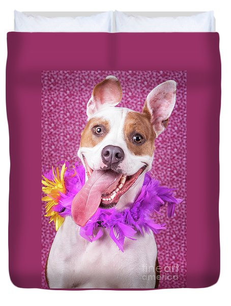 Hapy Dog Duvet Cover by Stephanie Hayes