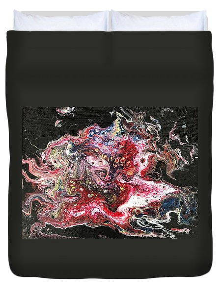 Duvet Cover featuring the painting Harakiri by Robbie Masso