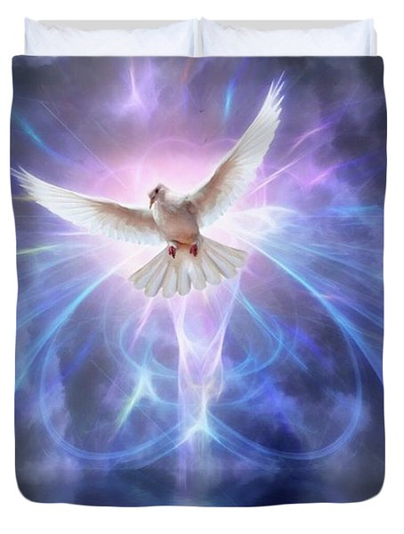 Harbinger II #fantasy #fantasyart Duvet Cover by John Edwards
