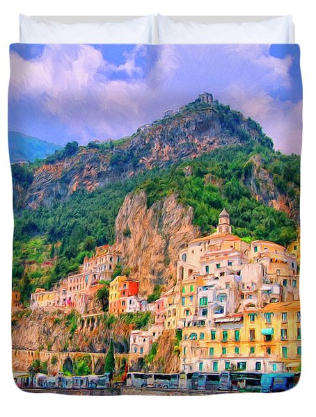 Harbor At Amalfi Duvet Cover