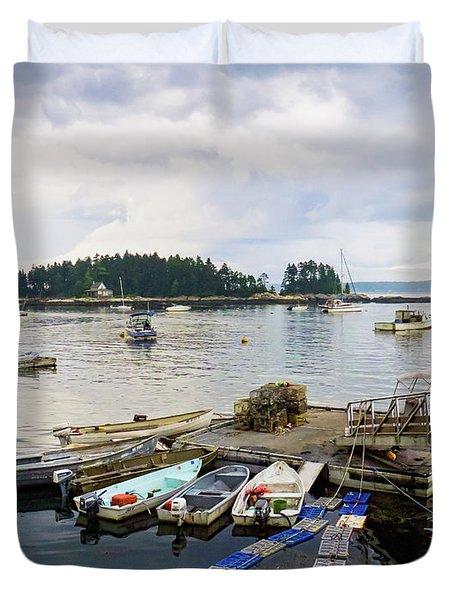 Harbor At Georgetown Five Islands, Georgetown, Maine #60550 Duvet Cover