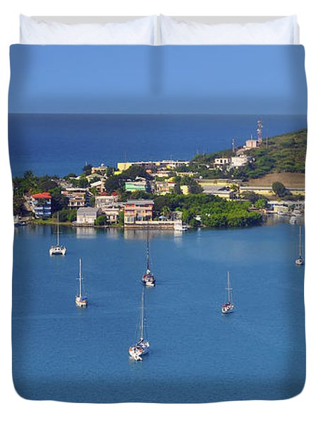 Harbor Blues Duvet Cover by Stephen Anderson