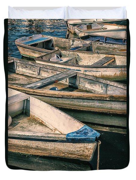 Harbor Boats Duvet Cover