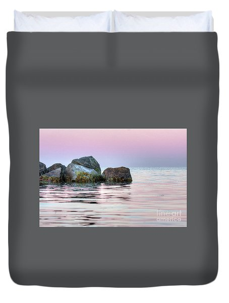 Harbor Breakwater Duvet Cover