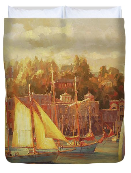 Harbor Faire Duvet Cover