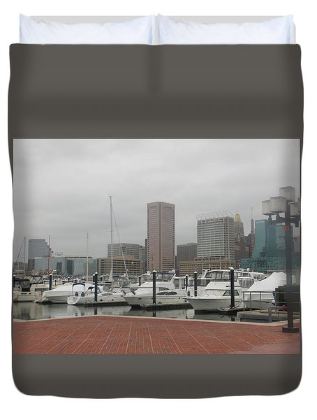 Harbor Happiness Duvet Cover