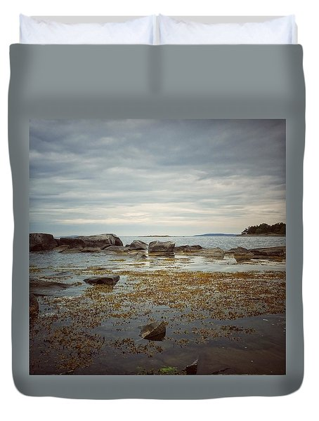 Duvet Cover featuring the photograph Harbor by Karen Stahlros