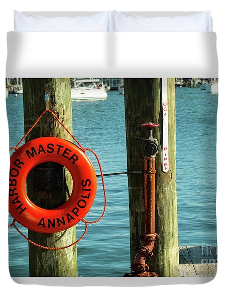 Harbor Life Preserver Duvet Cover