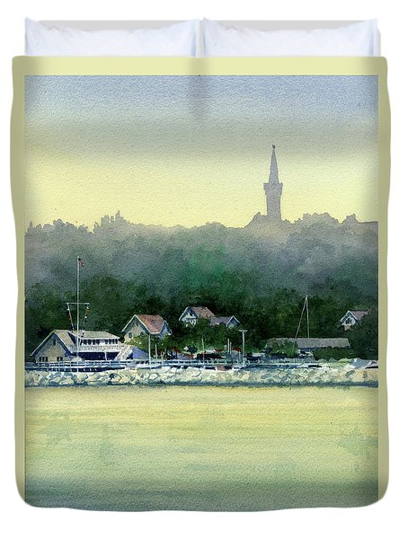 Harbor Master, Port Washington Duvet Cover