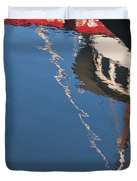 Harbor Reflections Duvet Cover