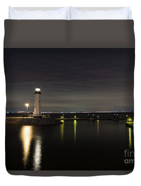 Harbor Rockwall Lighthouse Duvet Cover