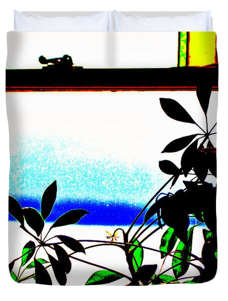 Harbor Side Window Duvet Cover