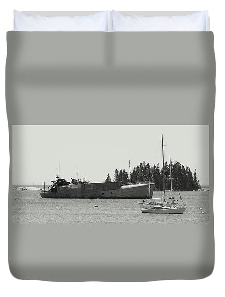 Harbor Vessels Duvet Cover by Lois Lepisto