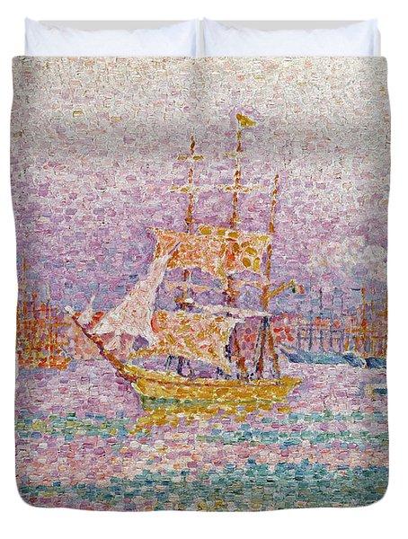 Harbour At Marseilles Duvet Cover by Paul Signac