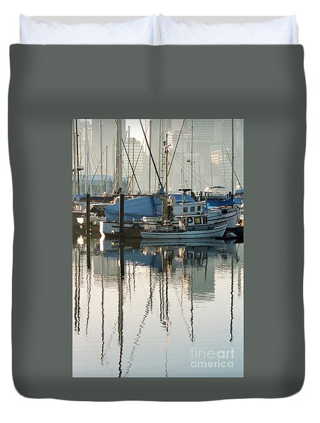 Harbour Fishboats Duvet Cover
