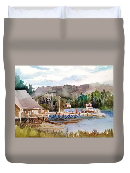 Harbour Scene Duvet Cover
