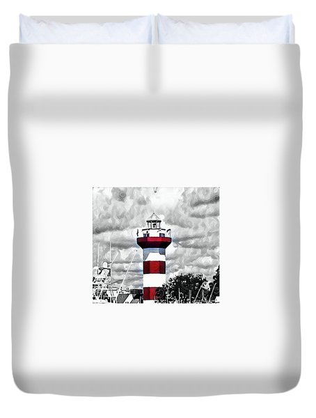 Harbour Town Lighthouse Duvet Cover