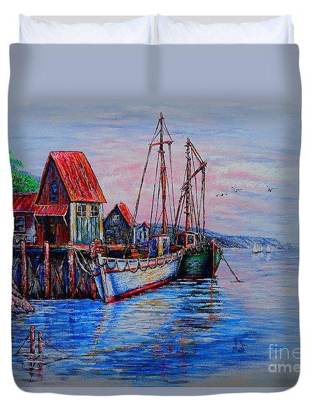 Harbour Duvet Cover by Viktor Lazarev