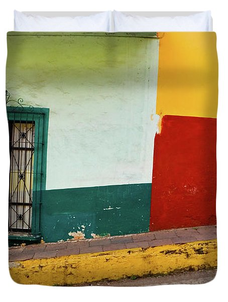 Duvet Cover featuring the photograph Hard Knock Life by Skip Hunt