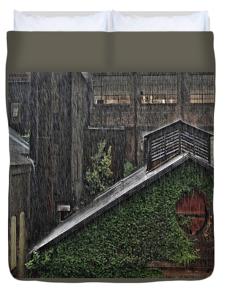 Hard Rain Duvet Cover