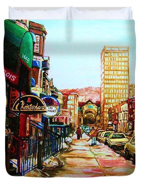 Hard Rock Cafe  Duvet Cover by Carole Spandau