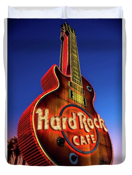 Hard Rock Hotel Guitar At Dawn Duvet Cover