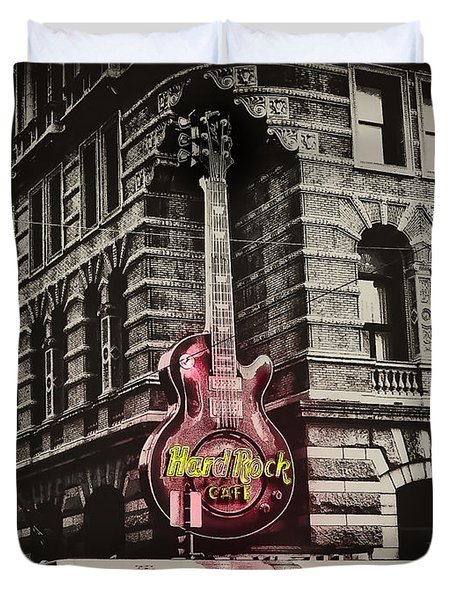Hard Rock Philly Duvet Cover by Bill Cannon