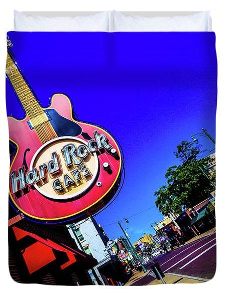 Hard Rockin On Beale Duvet Cover