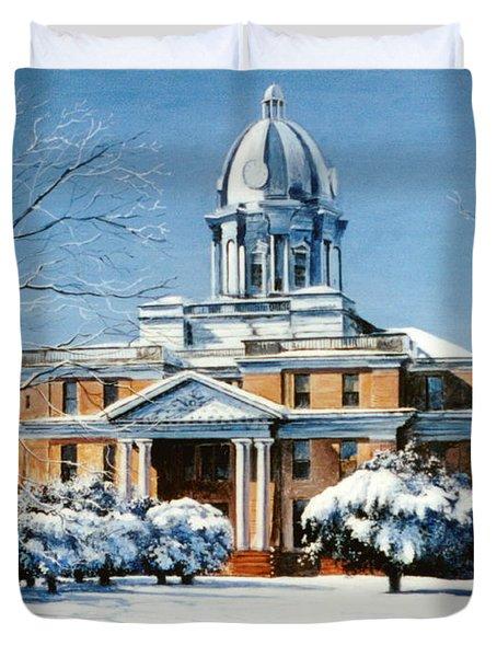 Hardin County Courthouse Duvet Cover
