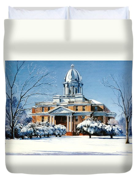 Hardin County Courthouse Duvet Cover