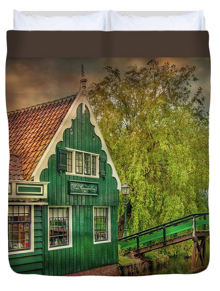 Duvet Cover featuring the photograph Haremakerij At The Brook by Hanny Heim