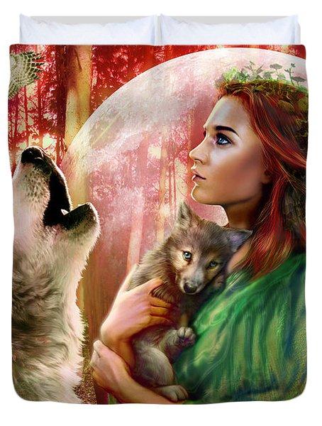 Harest Moon Brethren Variant 2 Duvet Cover by Andrew Farley
