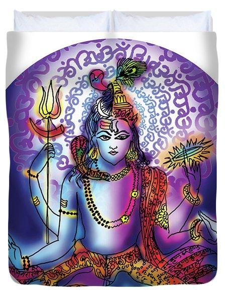 Hari Hara Krishna Vishnu Duvet Cover