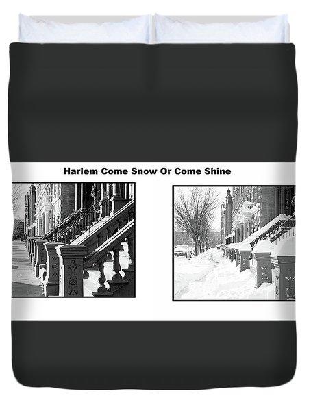 Harlem Summer Winter Duvet Cover