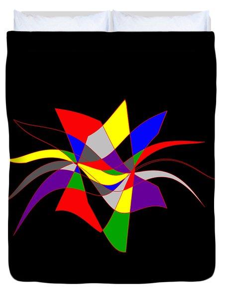 Harlequin Flower Duvet Cover by Methune Hively